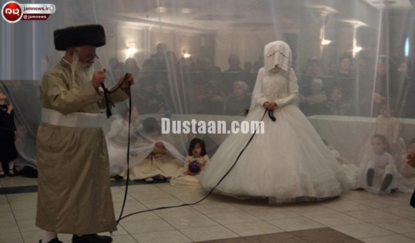 بستن افسار به گردن عروس خانم در شب عروسی! +عکس