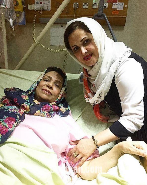 www.dustaan.com گوهر خیراندیش روی تخت بیمارستان +عکس