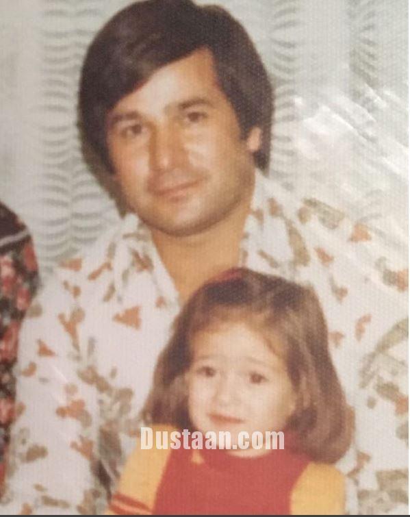 www.dustaan.com الهام حمیدی در آغوش پدرش +عکس