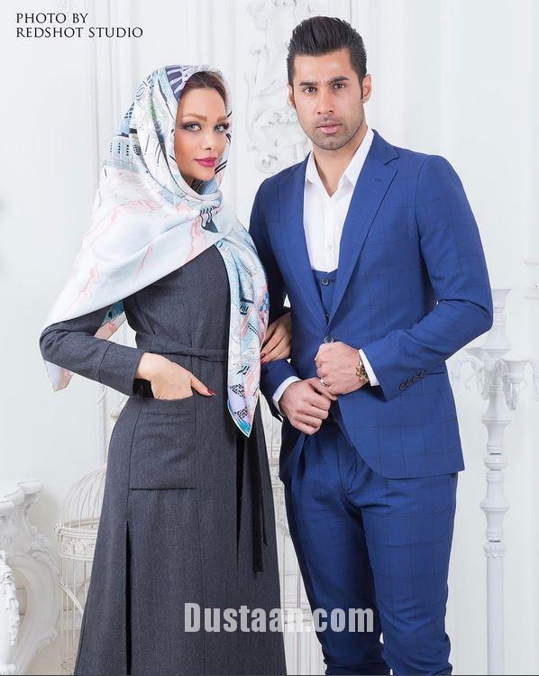 www.dustaan.com بیوگرافی و عکس های جذاب محسن فروزان و همسرش نسیم نهالی