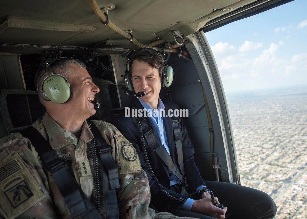 www.dustaan.com عکس: جرد کوشنر داماد دونالد ترامپ، بر فراز بغداد