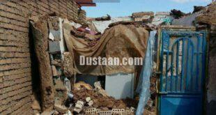 تصویری از خسارت زلزله در یک روستای تربت جام