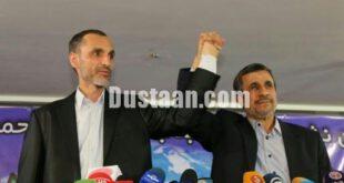 احمدی نژاد دست بقایی را بالا برد/ عکس