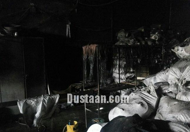 www.dustaan.com اتش سوزی در کارگاه آب کاری ورامین +تصاویر
