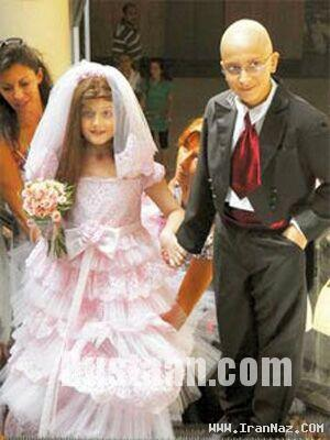 www.dustaan.com ازدواج تلخ، دختر و پسری 8 و 12 ساله در لبنان +عکس