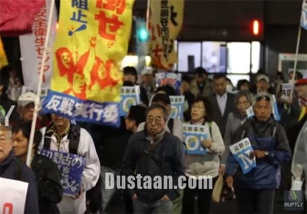 www.dustaan.com اعتراضات گسترده مردم در ژاپن +تصاویر