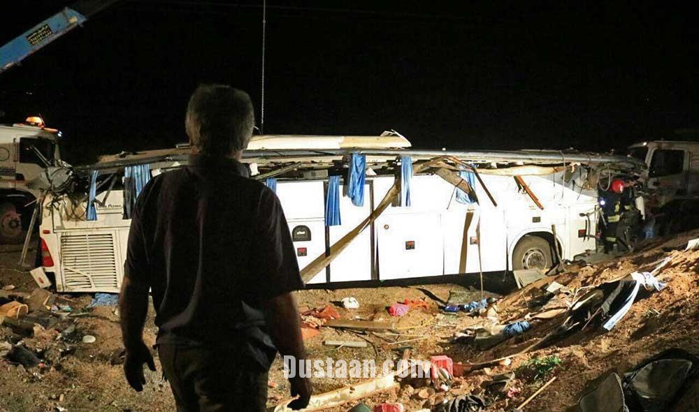 واژگونی اتوبوس در سبزوار/تصاویر