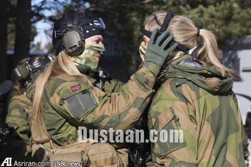 www.dustaan.com پوشش متفاوت زنان در ارتش نروژ  تصاویر