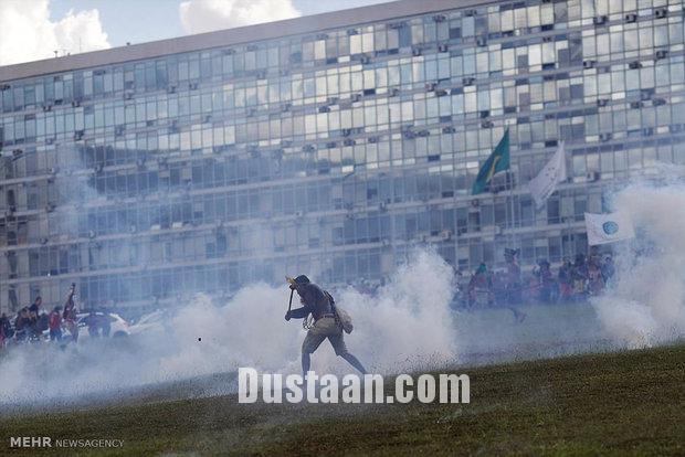 تظاهرات سرخ پوستان در برزیل/تصاویر