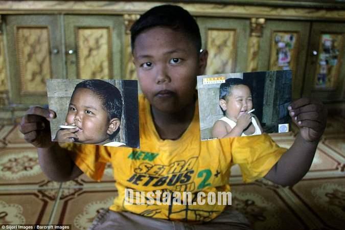 www.dustaan.com عاقبت پسربچه دو ساله ای که سیگار می کشید! +تصاویر