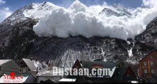 بهمن در مرتفع ترین قله اروپا /عکس