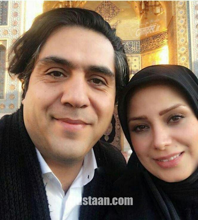 www.dustaan.com سلفی زیبای صباراد و همسرش مانی رهنما در حرم امام رضا (ع)