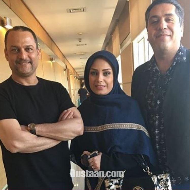 www.dustaan.com صبا راد و همسرش مانی رهنما  در کنار حسین یاری