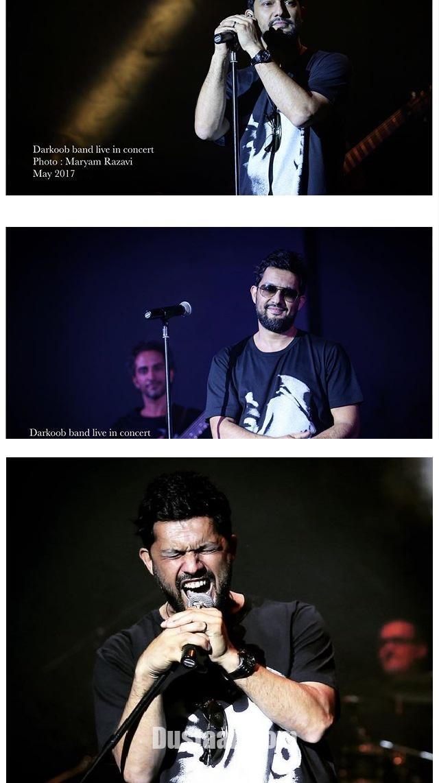 www.dustaan.com پوشش متفاوت حامد بهداد در کنسرت دارکوب +تصاویر