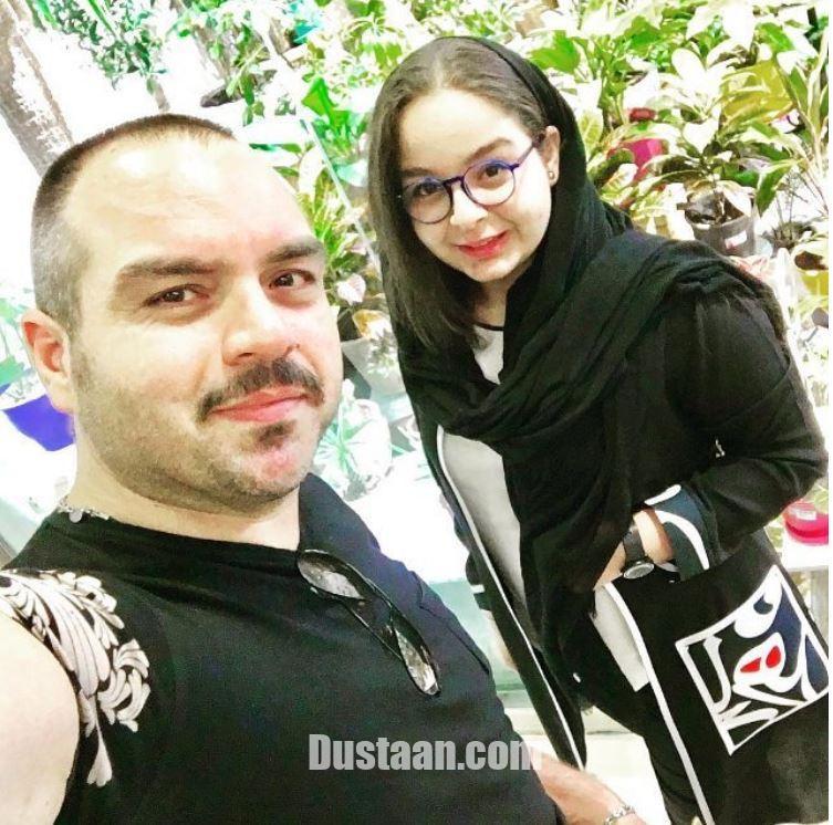 www.dustaan.com - شباهت جالب شهرام قائدی و دخترش به هم! +عکس