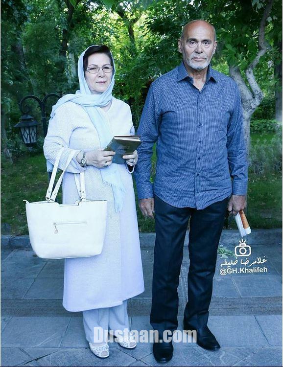 www.dustaan.com جمشید هاشم پور در کنار همسرش +عکس