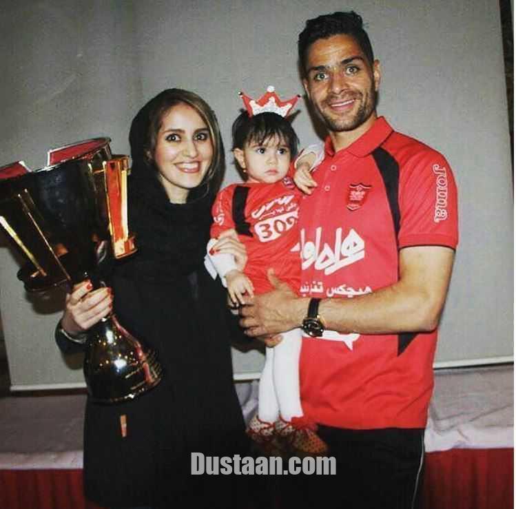 www.dustaan.com کمال کامیابی نیا در کنار همسر و دخترش کمند +عکس