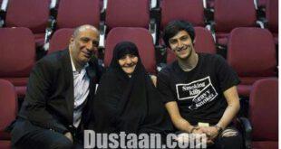 سردار آزمون در کنار امیر جعفری و مادرش +عکس