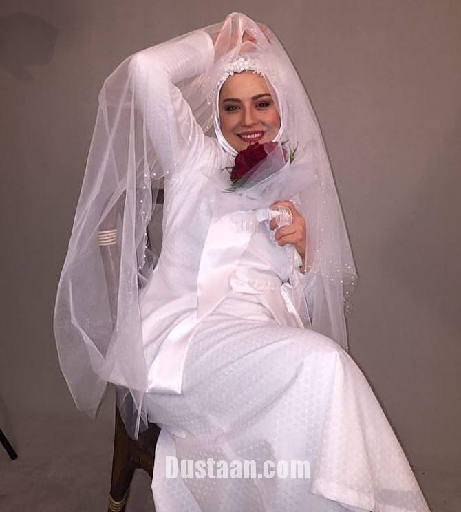 www.dustaan.com عکس: مهراوه شریفی نیا در لباس عروس