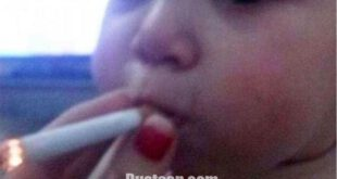 وقتی سیگار کشیدن کودک سوژه کاربران می شود! +عکس