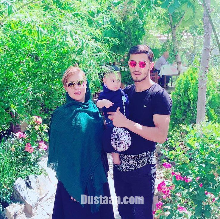 www.dustaan.com علی علیپور در کنار همسر و پسرش +عکس