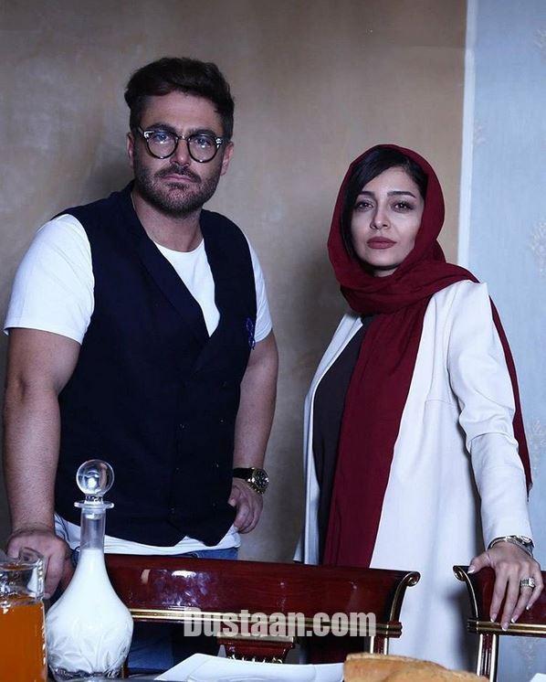 www.dustaan.com ساره بیات و محمدرضا گلزار در پشت صحنه «عاشقانه»