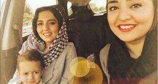 سلفی زیبای نرگس محمدی در کنار خواهرش سارا