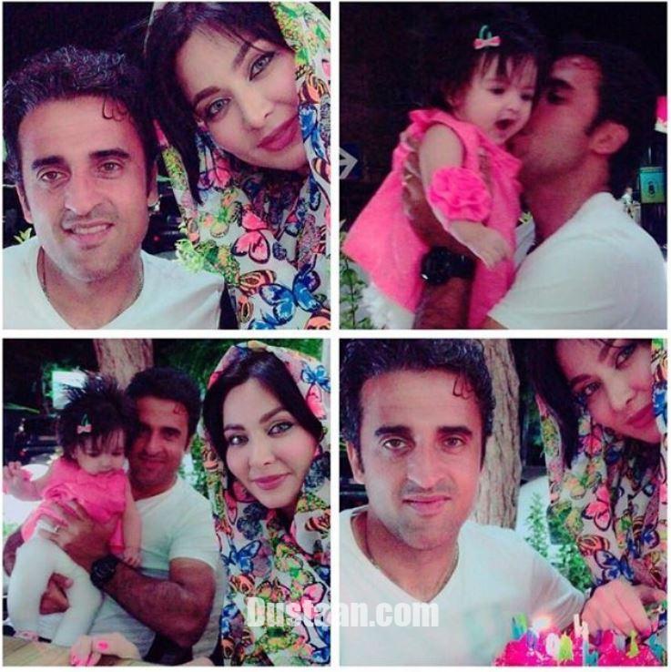 www.dustaan.com فقیهه سلطانی و همسرش جلال امیدیان در کنار دخترشان