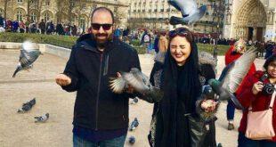 نرگس محمدی و همسرش +عکس