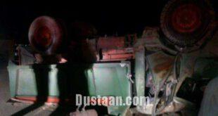 برخورد رخبهرخ کامیون و زانتیا در کرمانشاه