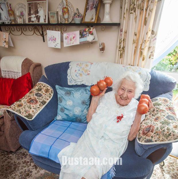 www.dustaan.com زن 109 ساله از راز طول عمر زیادش گفت!