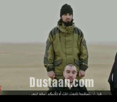 www.dustaan.com جلاد داعش افسر روس را وحشیانه سر برید +عکس