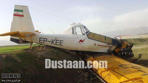 www.dustaan.com سقوط هواپیمای سمپاش در پیرانشهر +تصاویر