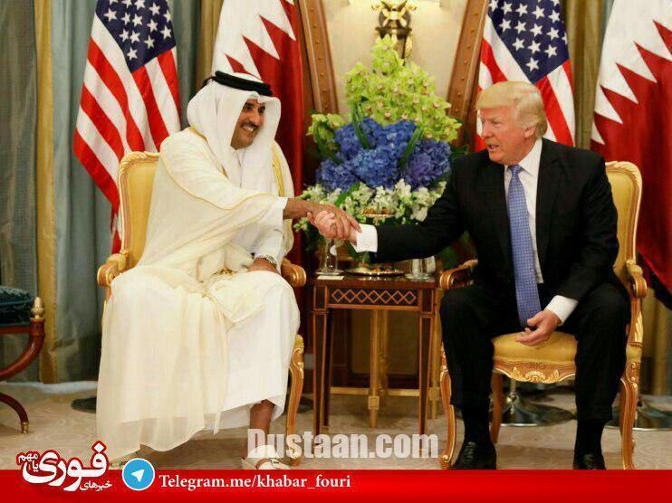 www.dustaan.com امیر قطر با دمپایی به استقبال ترامپ رفت! +عکس