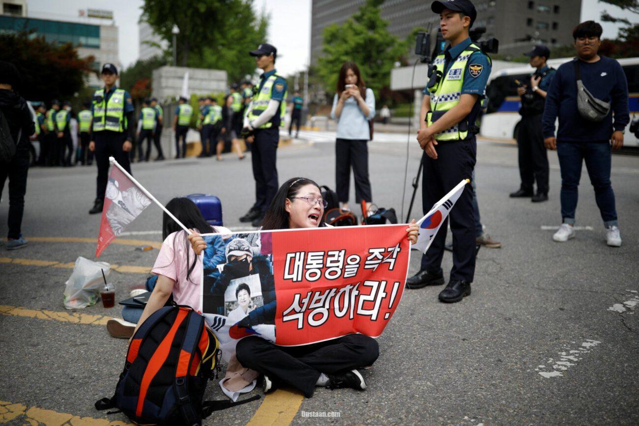 www.dustaan.com محاکمه رئیس جمهور سابق کره جنوبی که به اتهام دریافت رشوه +تصاویر
