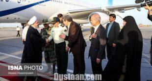 تصاویر: لحظه ورود رئیس جمهور به مشهد