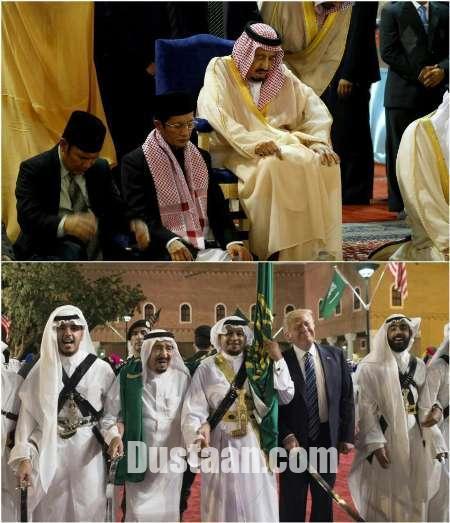 www.dustaan.com پادشاه عربستان وقتی ایستاده می رقصد و نشسته نماز می خواند! +عکس