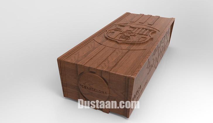 www.dustaan.com تابوت مخصوص برای هواداران رئال و بارسا