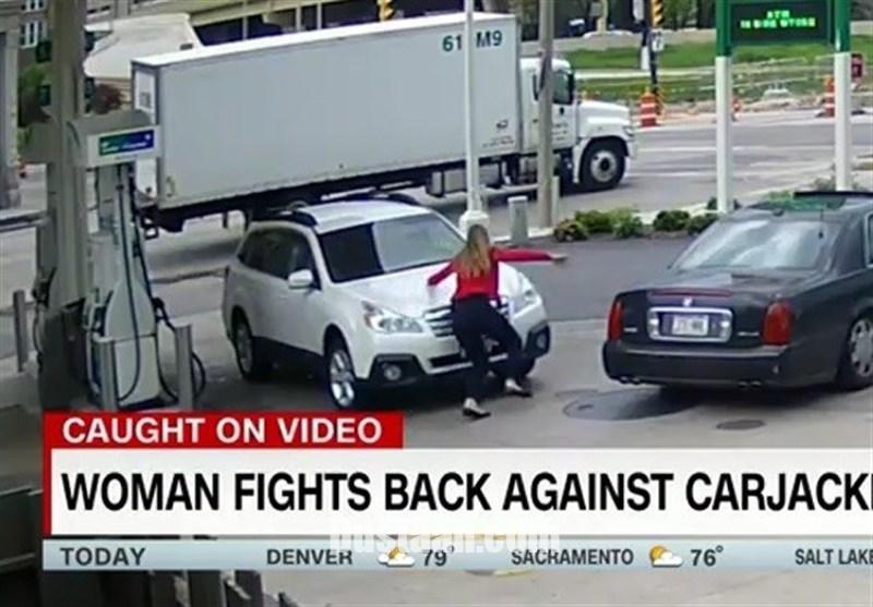 www.dustaan.com مقاومت جانانه دختر جوان در مقابل سارقان خودرو! +عکس