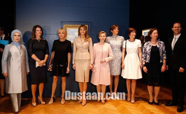 www.dustaan.com همسر نخست وزیر همجنسگرای لوکزامبورگ در میان همسران سران ناتو! +عکس