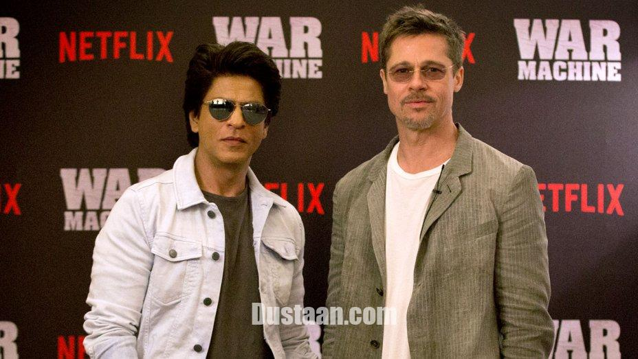www.dustaan.com برد پیت در دیدار با شاهرخ خان: در سینمای بالیوود شانسی ندارم! +عکس