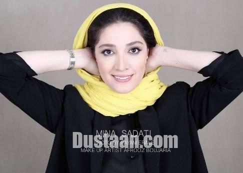 فعالیت مینا ساداتی به عنوان مدل آرایشی