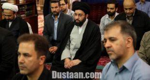 فرزند رهبر انقلاب در مراسم تشییع پیکر حجت الاسلام پهلوانی/عکس