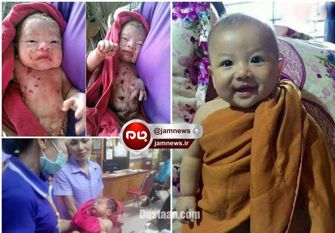 www.dustaan.com زنده ماندن معجزه آسای نوزاد پس از خوردن 14 ضربه چاقو!+عکس