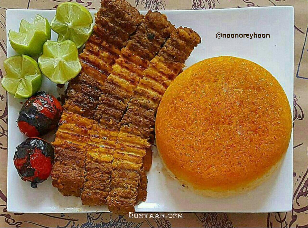 www.dustaan.com طرز تهیه کباب تابه ای دو رنگ؛ خوشمزه و لذیذ!