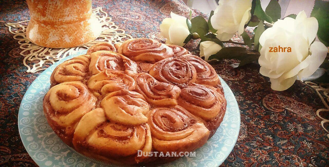 www.dustaan.com طرز تهیه کیک دارچینی ، مناسب دورهمی ها و جشن ها