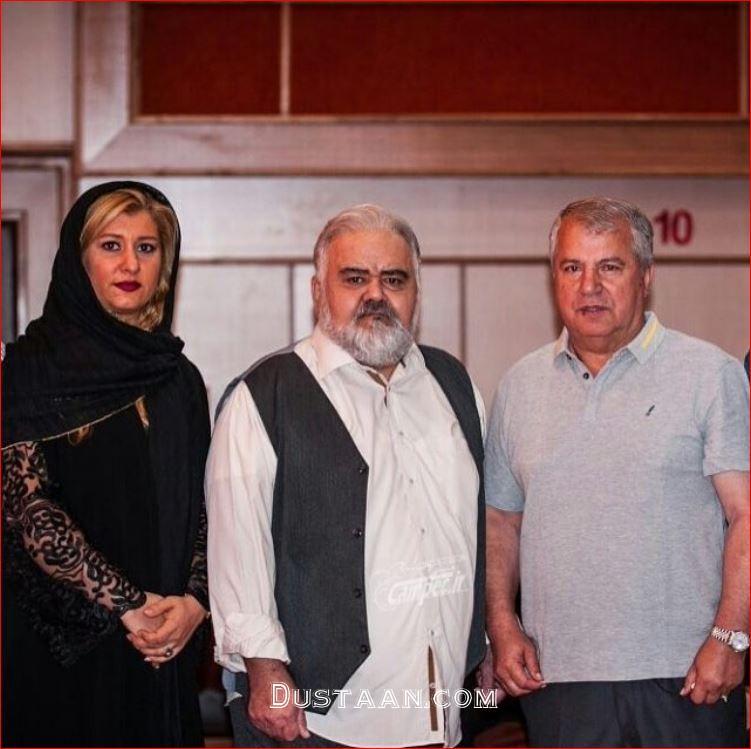 www.dustaan.com عکس: علی پروین و دخترش لادن به همراه اکبر عبدی