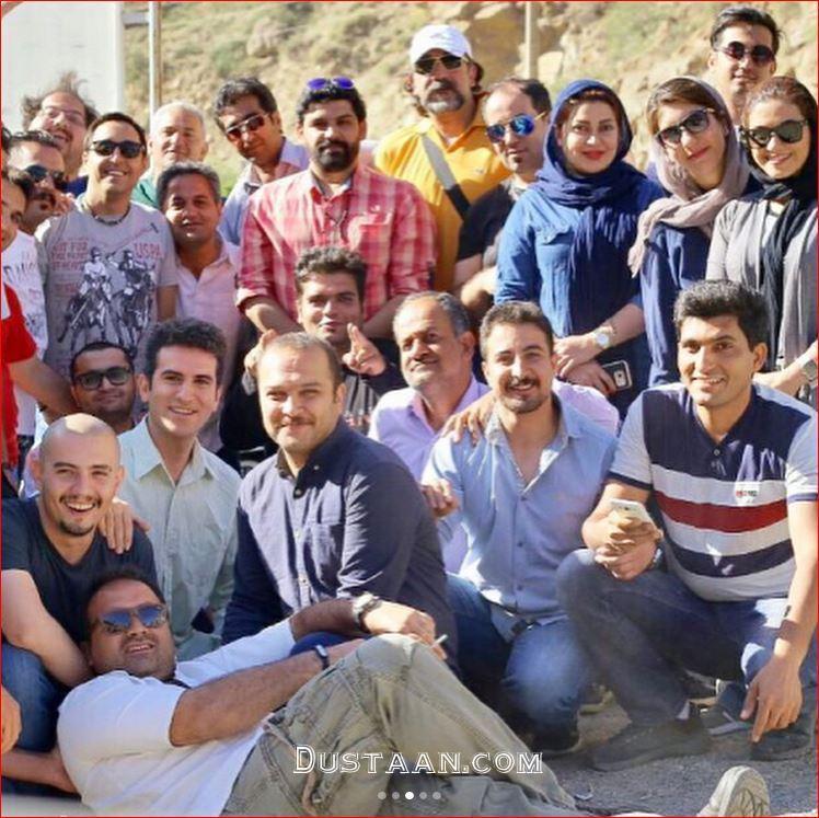 www.dustaan.com بیژن بنفشه خواه و آتنه فقیه نصیری در پشت صحنه لیسانسه ها +تصاویر