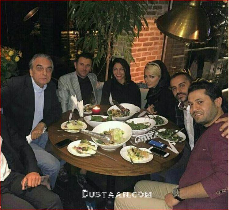 www.dustaan.com امین حیایی و همسرش نیلوفر خوش خلق در کنار دوستانشان +عکس