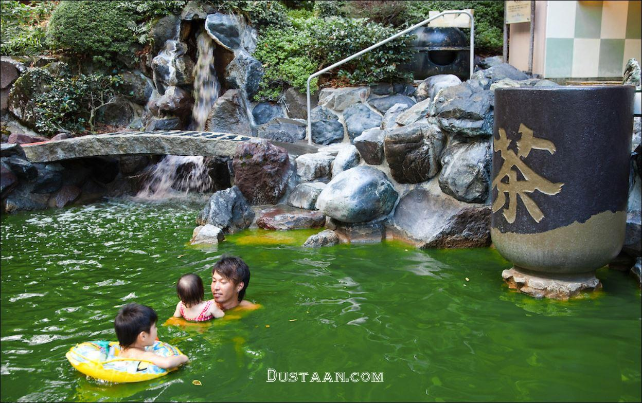 www.dustaan.com استخر های چای سبز و نوشابه در ژاپن! +عکس